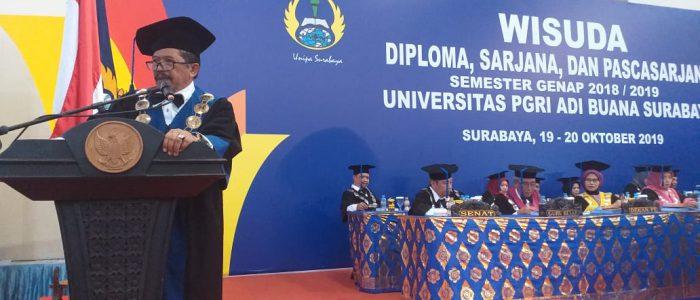 Wisuda Semeter Genap 2018/2019, Ini Pesan Rektor Unipa Surabaya Kepada Wisudawan